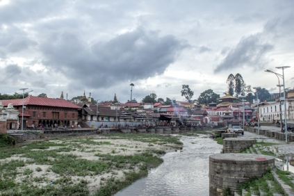 A view of the Pashupati Nath temple premises