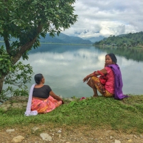 Residents of Pokhara at Phewa Lake